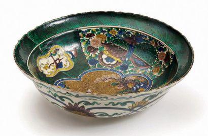 JAPON, Fours de Kutani<br/>Epoque EDO (1603 - 1868), XVIIe siècle