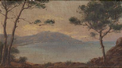 Paul LEGAGNEUR (XIXème-XXème siècle) Paysage du Sud Paire d'huiles sur toile, signée...