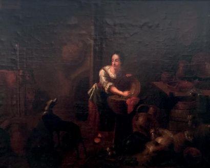 Ecole HOLLANDAISE du XVIIIème siècle suiveur de Cornelis SAFTLEVEN