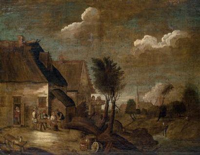 Ecole FLAMANDE, XVIIIème siècle dans le goût de David TENIERS