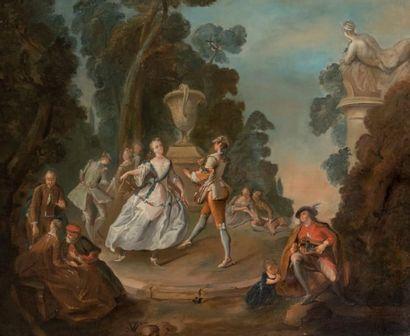 Ecole FRANCAISE, XVIIIème siècle suiveur de Jacques de LAJOUE