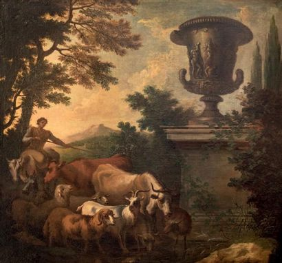 Ecole ITALIENNE, du XVIIème sècle<br/>Entourage de Rosa da TIVOLI (1655-1706)
