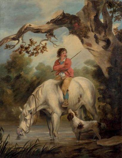 Ecole ANGLAISE de la fin du XVIIIe siècle entourage de George MORLAND