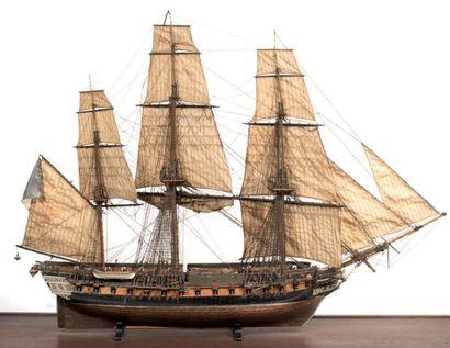 * Maquette de la frégate La Didon trois-mâts,...