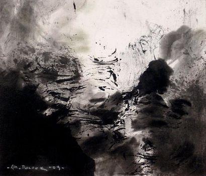 RICOUX André-Marie Sans titre / Encre de Chine sur papier / SBG / 18 x 21 cm
