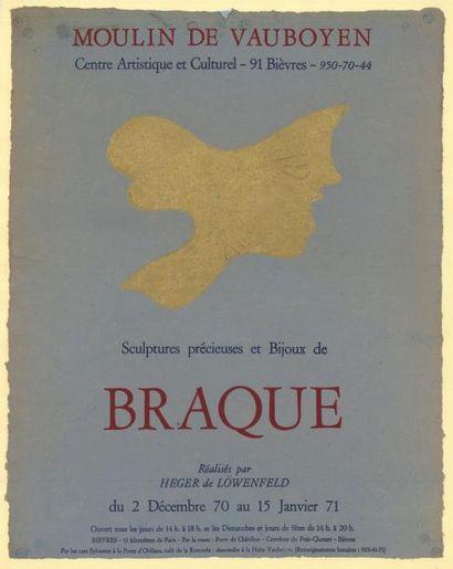 George BRAQUE - 1971 Moulin de Vauboyen (version bleue) - Sculptures précieuses et...