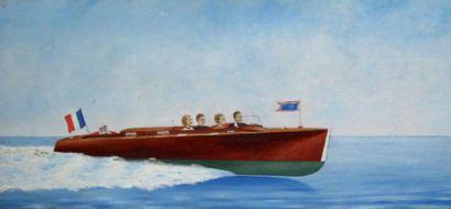 Rare représentation d'un RIVA « Le Méditerranée...