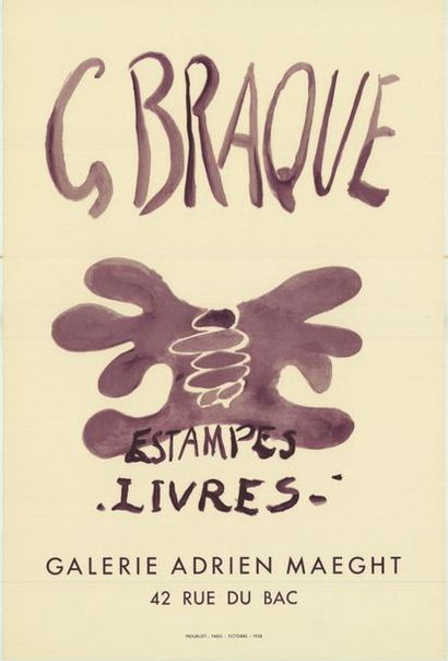 George BRAQUE  - 1958