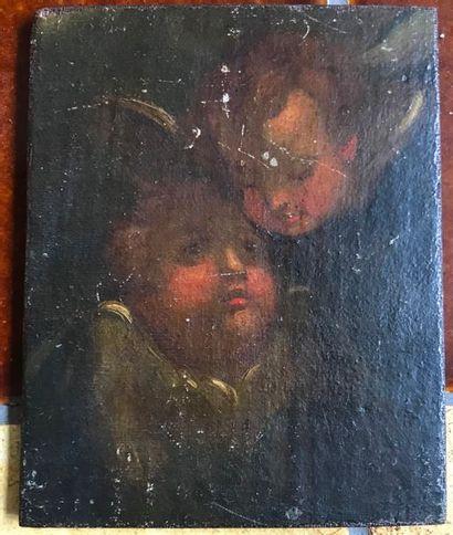 Portrait d'enfants Huile