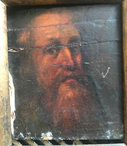 Portrait d'homme barbue Huile