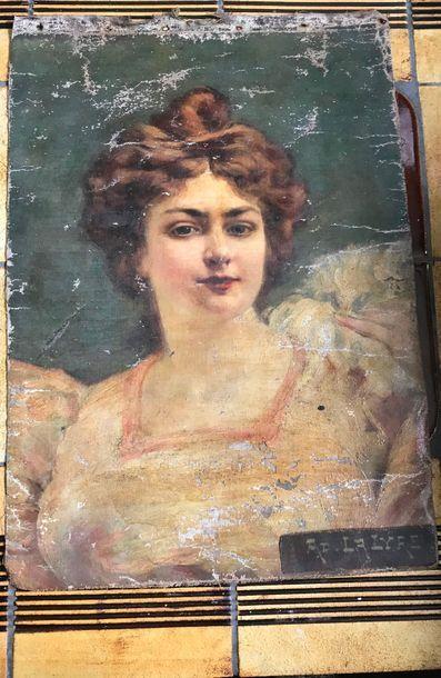 Portrait de femme en buste Huile