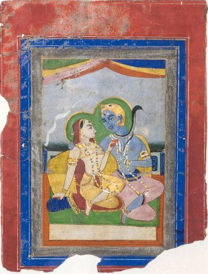 Inde, fin XIXe siècle Peinture représentant...