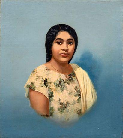 Emile RALAMBO (1879-1963) Portrait de femme...