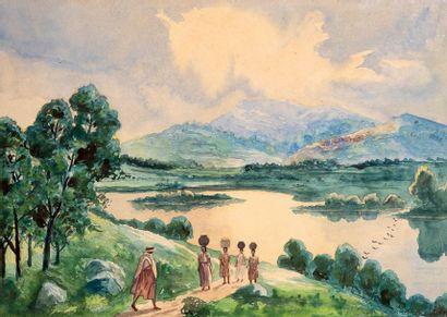 Ecole Malgache, fin XIXe / début XXe siècle...