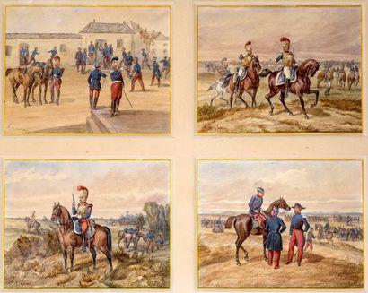 Charles De LUNA (1812-?) Scènes militaires...