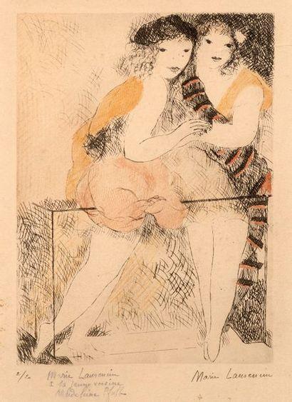 Marie LAURENCIN (1883-1956) Deux femmes Estampes,...