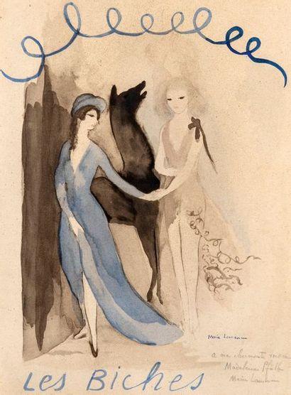 Marie LAURENCIN (1883-1956) Les Biches Signée...