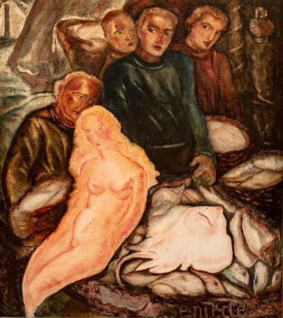 Jean VERVISCH (1896-1977) La sirène, circa...