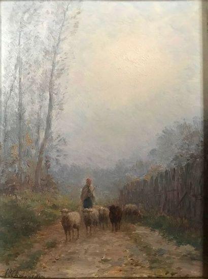 Jean Ferdinand CHAIGNEAU (1830-1906) Berger...