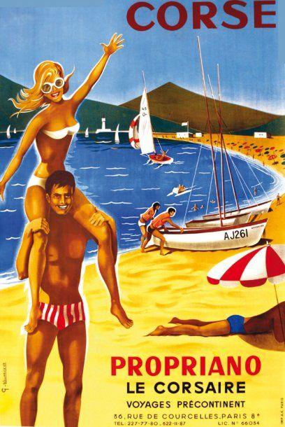 LECUREUX G. Corse Propriano - Le Corsaire 1969 Voyages précontinents. A.K. Paris...