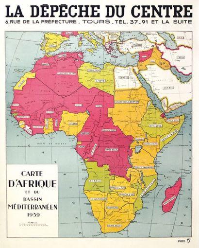 La Dépèche du Centre Tours. Carte d'Afrique...