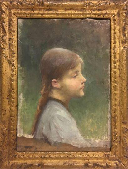 Jules-Cyrille Cavé (1859-c.1940)  Jeune fille...