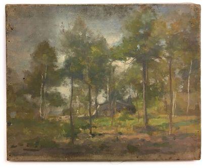 Jules-Cyrille Cavé (1859-c.1940)  La cabane...