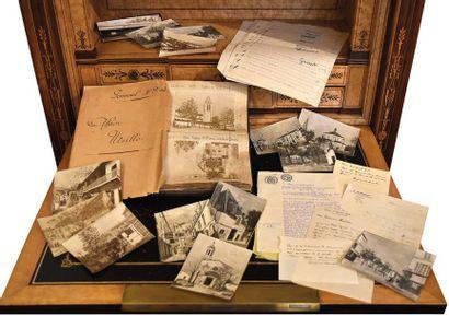 Lettres autographes et documentation relatives...