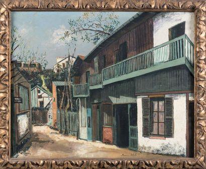 Maurice UTRILLO (1883-1955) L'ancien maquis à Montmartre Huile sur toile Signée en...