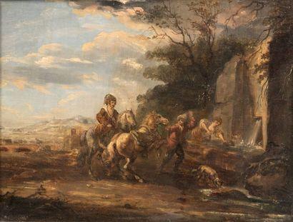 Ecole HOLLANDAISE du XIXème siècle dans le goût de Karel van FALENS