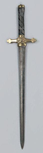 Dague d'officier de marine Fusée en ébène...
