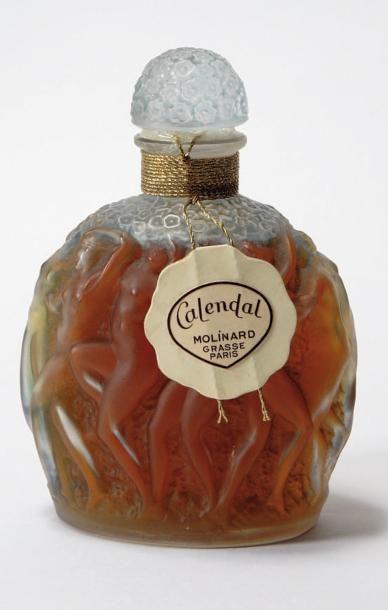 « Calendal » Flacon en verre soufflé, moulé,...