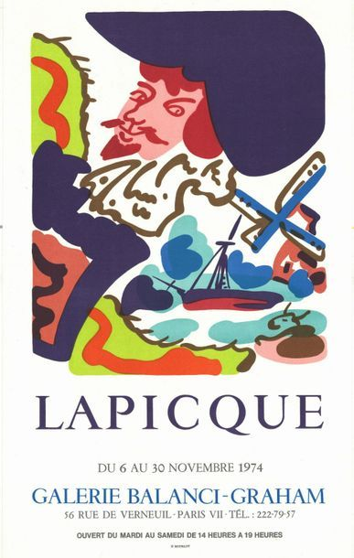 Charles LAPICQUE - 1973/1974 - 2 affiches