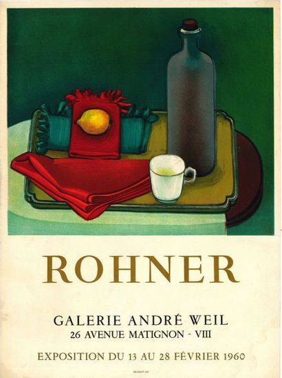 Georges ROHNER - 1960/1963 - 2 affiches