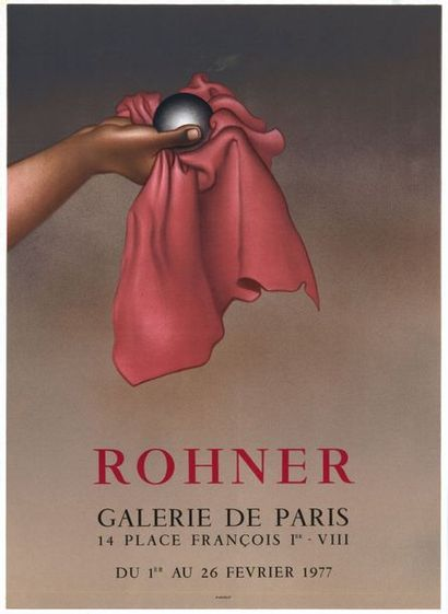Georges ROHNER - 1972/1977 - 2 affiches