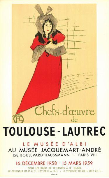Henri de  TOULOUSE LAUTREC  - 1959 - 5 exemplaires