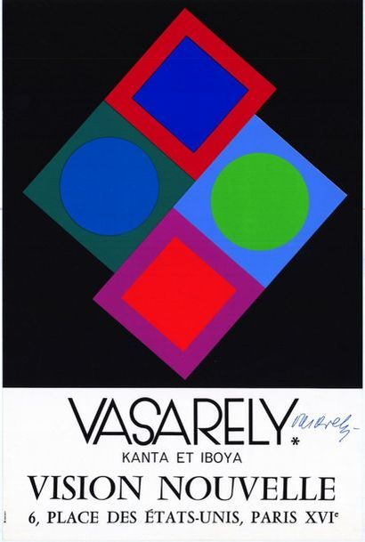 Victor VASARELY - 1970 - Signée