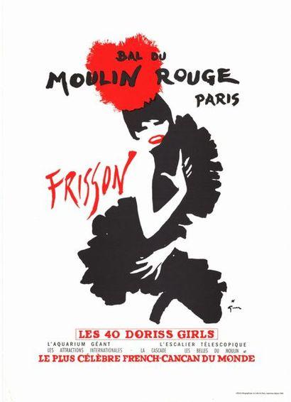 René GRUAU - MOULIN ROUGE - FRISSON