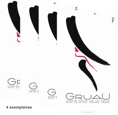 René GRUAU - CENTRE DE L'AFFICHE - 4 exemplaires