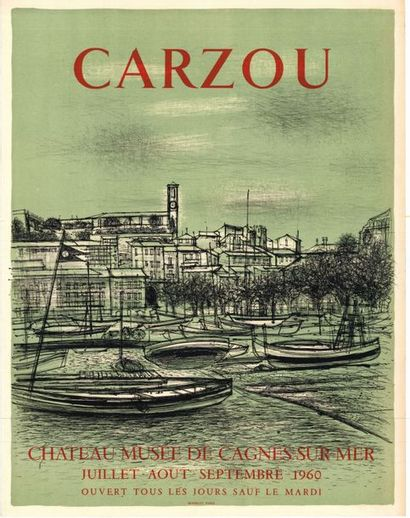 Jean CARZOU - 1960 - 2 affiches