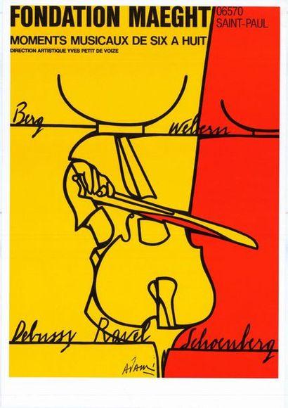 Valerio ADAMI - Eté 1977 - 2 affiches