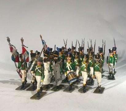 Ier Empire. France. Jeune garde-flanqueurs-chasseurs....