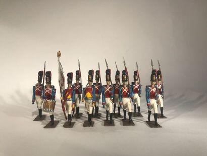 Ier Empire. Bavière. Grenadiers du 2ème Régiment...