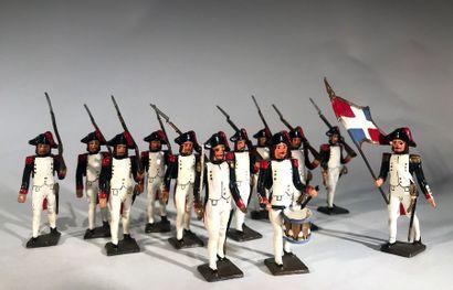 Révolution. France. Infanterie de ligne de...