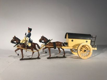 Ier Empire. France. Ambulance de Larrey attelée...