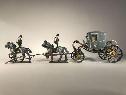 Ier Empire. France. Chaise deposte de Napoléon...