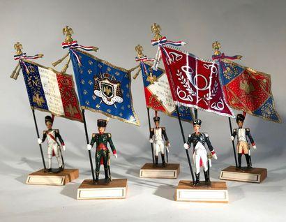 Ier Empire. France. Porte-drapeaux. Ce lot...