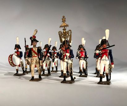 Ier Empire. France. Musique des Grenadiers de la Garde. Ce lot comprend 13 musiciens....