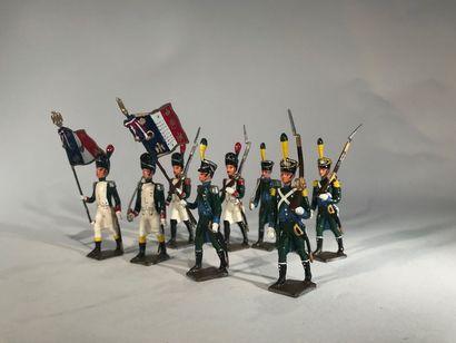 Ier Empire. Italie. Infanterie et Chasseurs...
