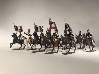 Ier Empire. France et Prusse. Divers cavaliers. Ce lot comprend 5 chevau-légers...